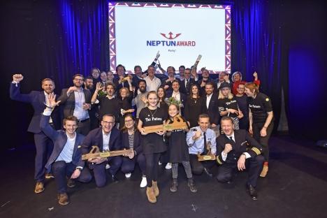 Die Gewinner des 14. Neptun Crossmedia Awards feierten im Hamburger Theater Kehrwieder (Foto: Christian Augustin)